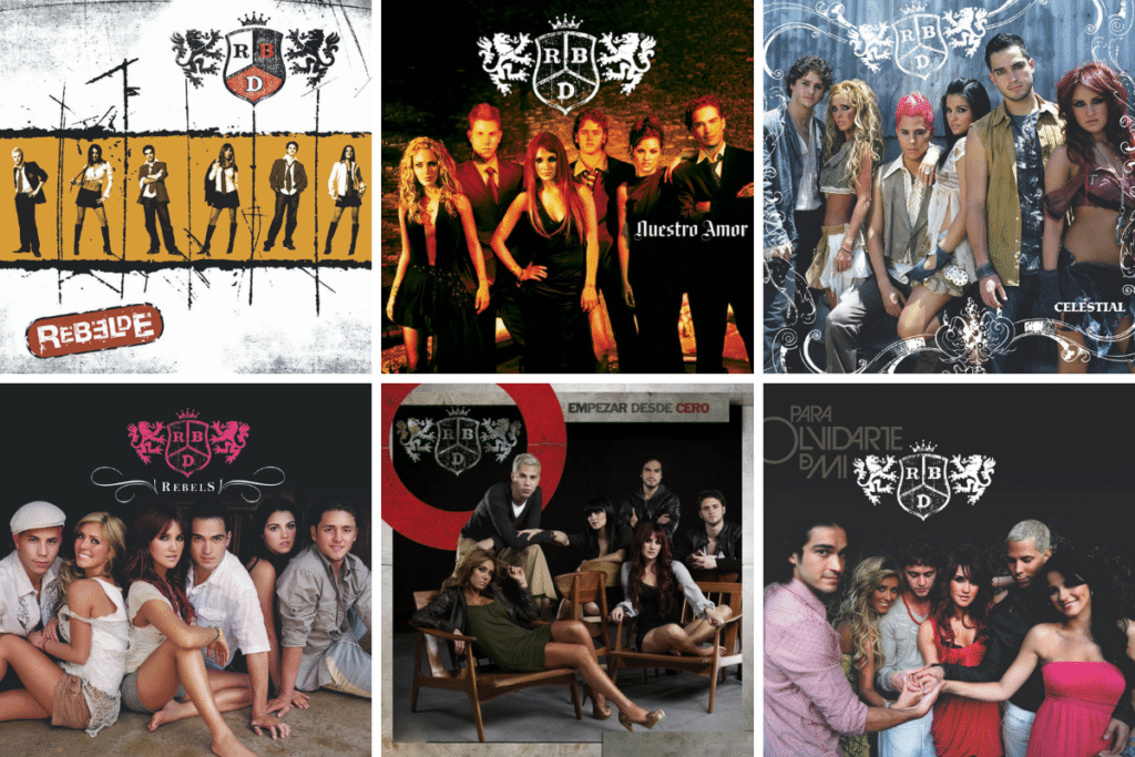 RBD - discografía en estudio