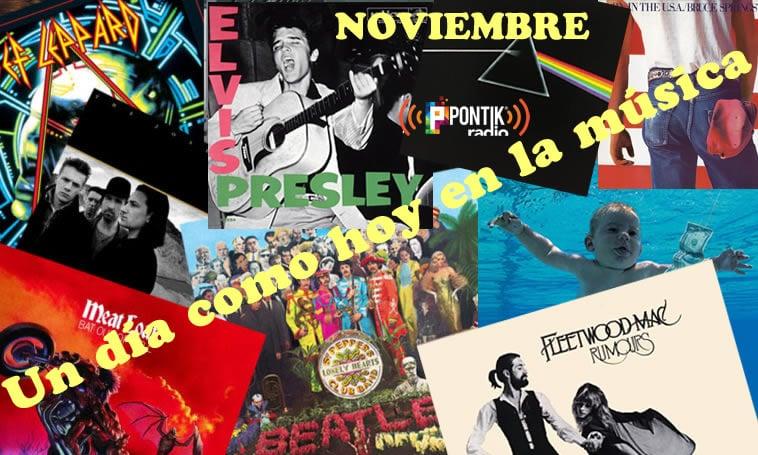 Noviembre 3 Hoy en la Música | Historia Musical en Pontik Radio