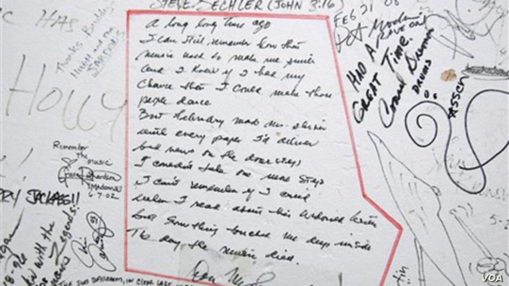 American Pie manuscrito original