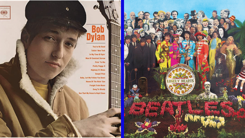 Dylan (1962) y Sgt. Peppers (1967)