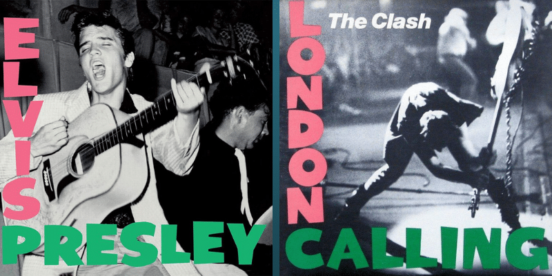 "Elvis Presley - ""Elvis Presley"" (1956) y The Clash ""London Calling"" (1979)"