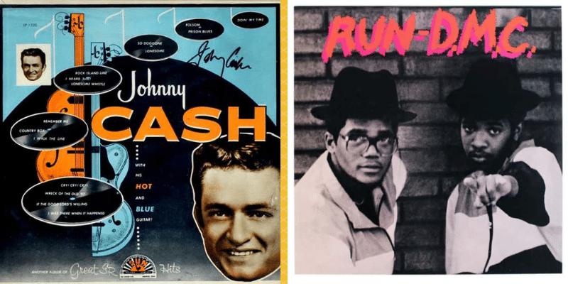 "Johnny Cash - ""With his hot and blue guitar"" (1957)y Run-DMC - ""Run DMC"" (1984)"
