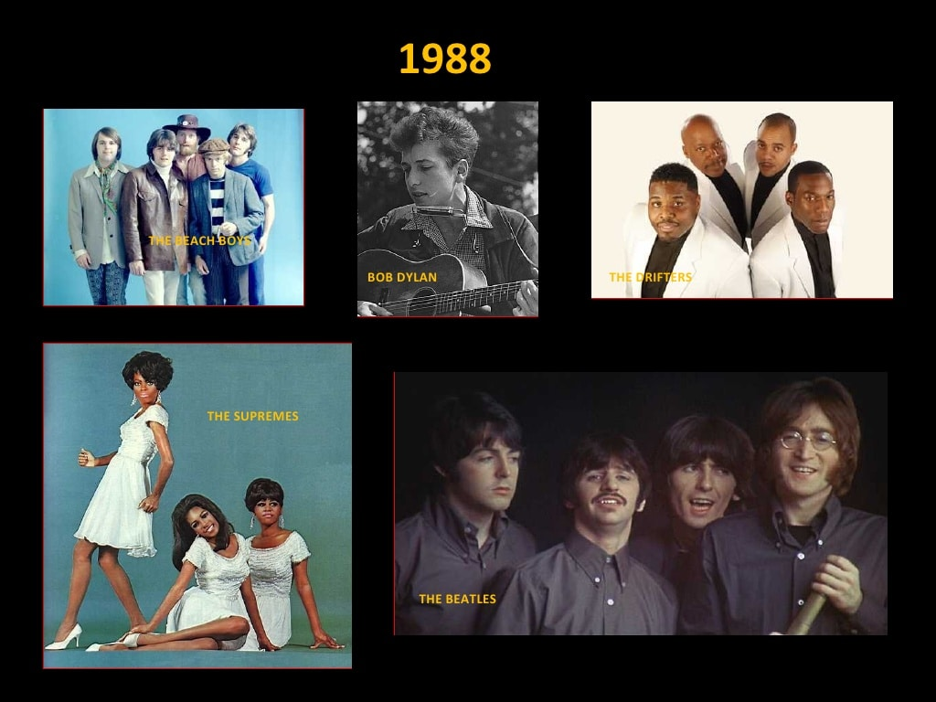 Clase 1988 - Rock and Roll Hall of Fame