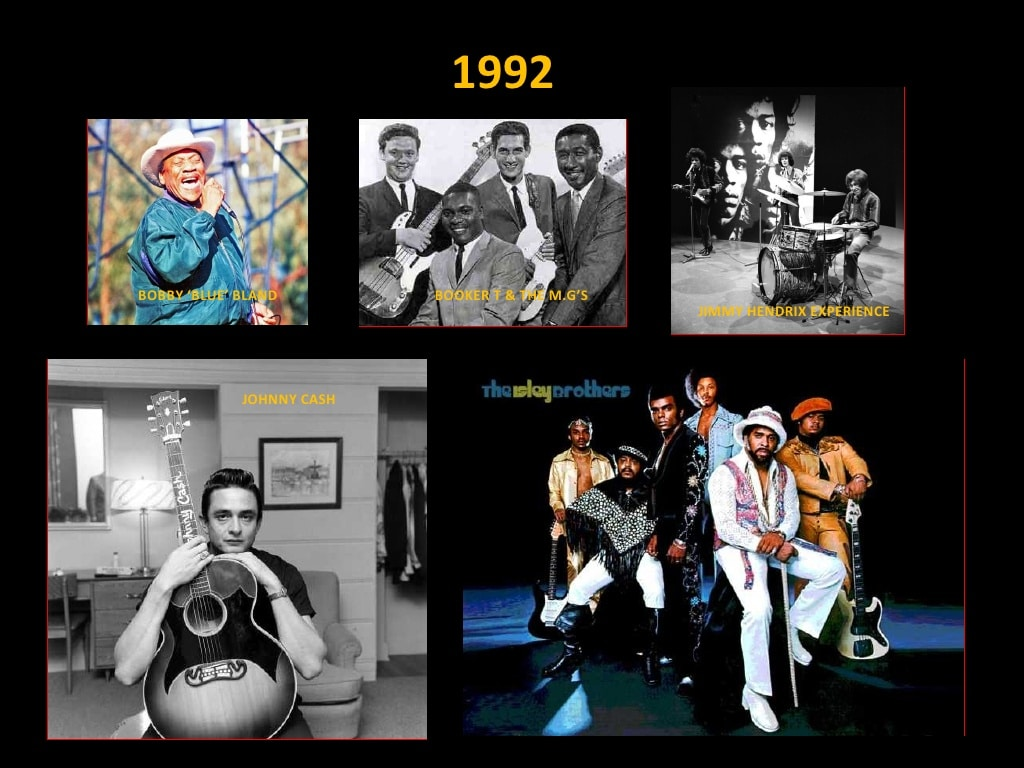 Clase 1992 - Rock and Roll Hall of Fame