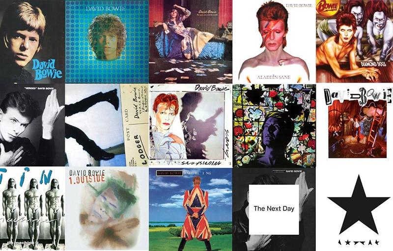 Catálogo musical de David Bowie - portadas - Pontik® Radio